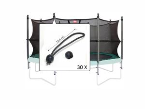 Imaginea Set elastice prindere plasa de siguranta (30 buc.)
