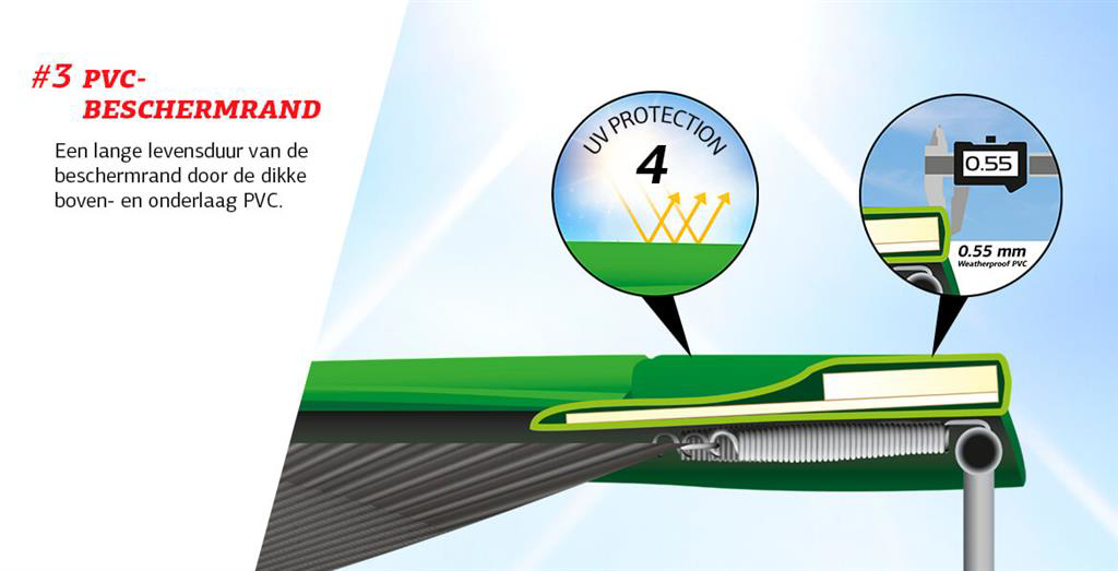 Picture of Trambulina Berg Grand Favorit Regular 520x345 Verde cu Plasa Comfort