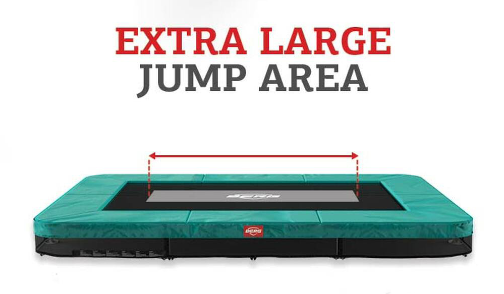 Trambulina Berg Ultim Favorit regular cu plasa  Comfort 280x190 jump area